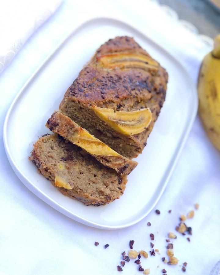 עוגת בננות טבעוניתובריאה